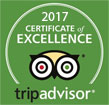 Tripadvisor 2017 - Certificate of Excellence